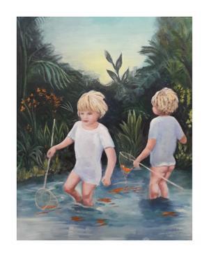 Anna Wolfsdorf     Little Fishermen    oil on canvas   40 x 50 cm    R2500