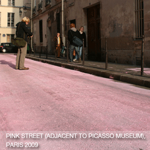 Pink Street (Adjacent to the Picasso Museum, during FIAC art fair Paris)