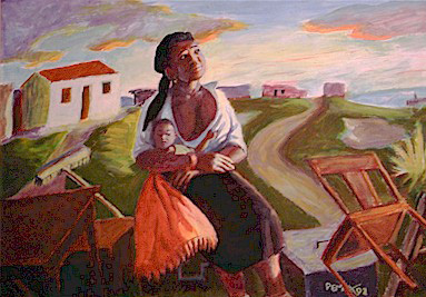 Eviction: mother and child - SOLD