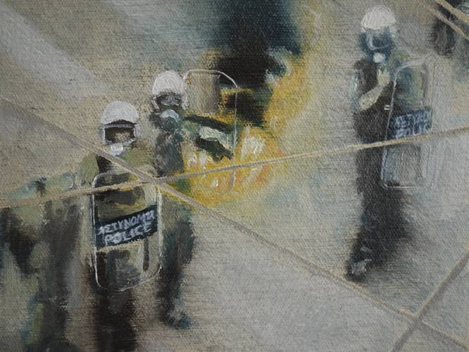 Detail, Tales of Unrest, oil on canvas, 150 x 195 cm, 2010