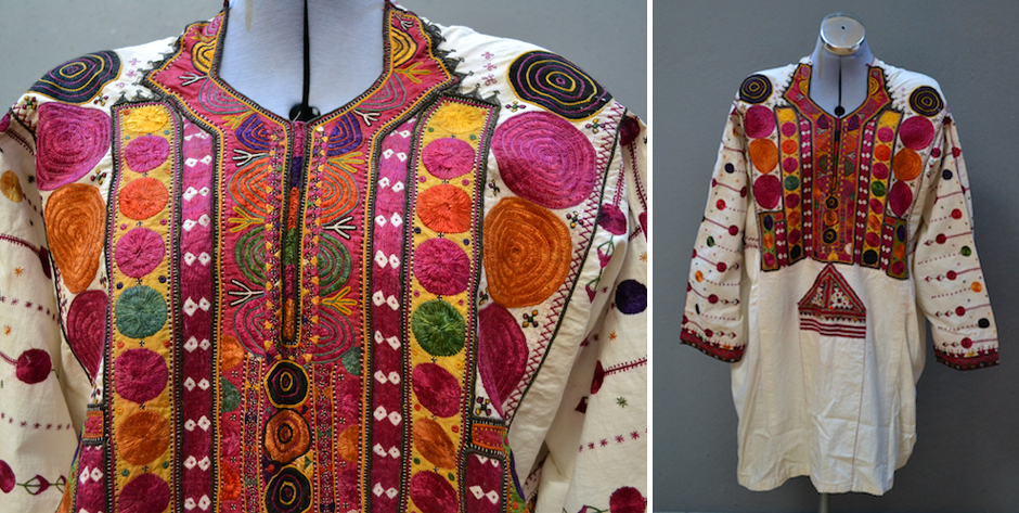 Balouchi dress with silk embroidery • probably first half 20th cent