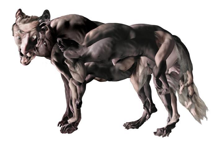 Wolf (self-portrait)  2003
