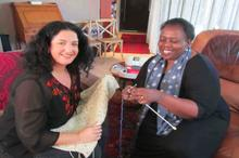 Lisa ended up knitting with South Africa's esteemed former Deputy Health and Defence Minister