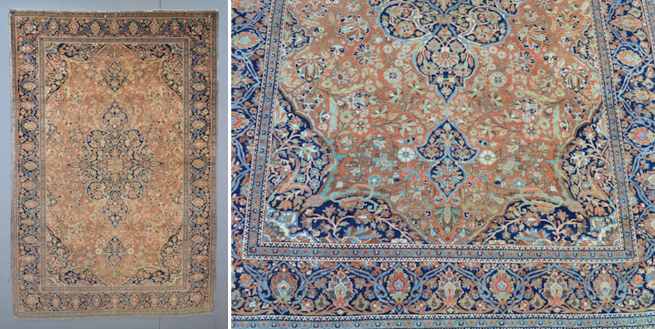 Fine Motasham Kashan rug • first quarter  20th cent