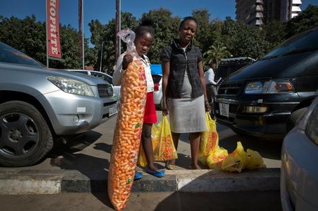 thumbnail for Natash Zungu, 6, with her mother Mary Zungu, 29, who is a primary school teacher. Shoprite, Lusaka
