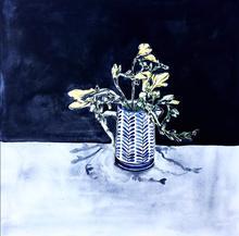 Kalk bay flowers in blue vase