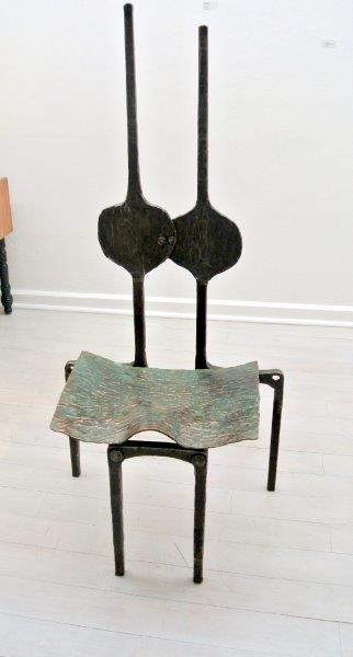 Copper and Steel Chair