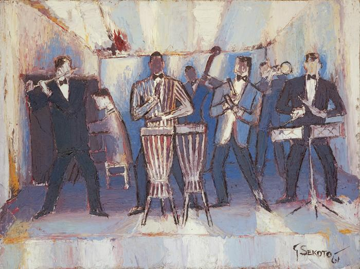 Gerard Sekoto: The jazz band - SOLD