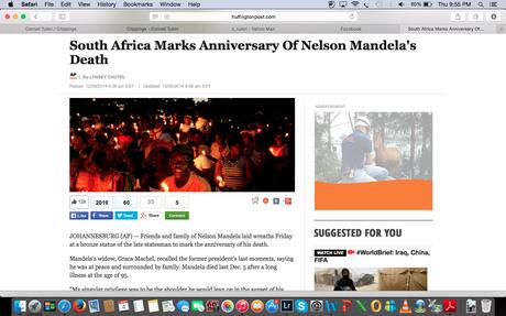 Huffington Post - Mandela Memorial, Soweto