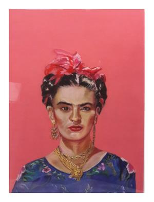 Patricia Fine    Frida    Pastel on paper     75x 45    R5000