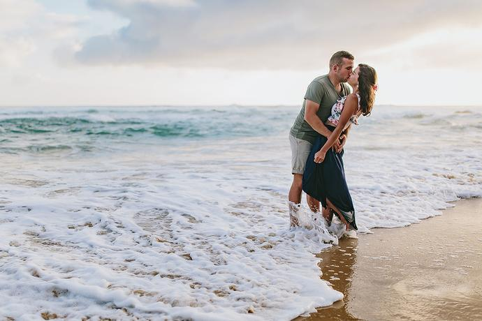 Sunset Beach Engagement Shoot - Tiaan & Melani
