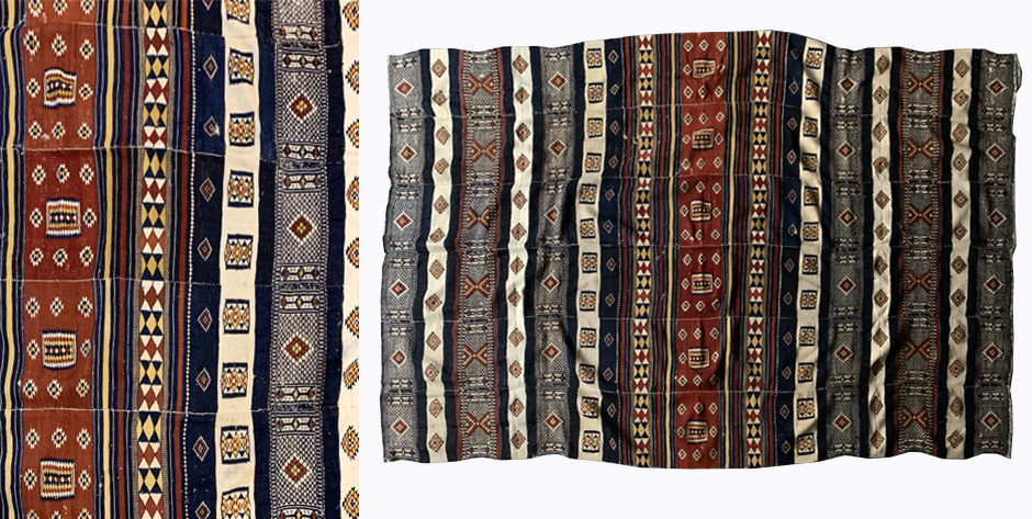 W. African Mali Arkilla wool section of a tent divide region of Timbuktu * circa 1900