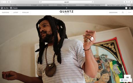 Quartz (US) - Ayanda Mabulu, South African Artist