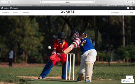Quartz (US) - Photos: Cricket has found a new home in the hills of Rwanda