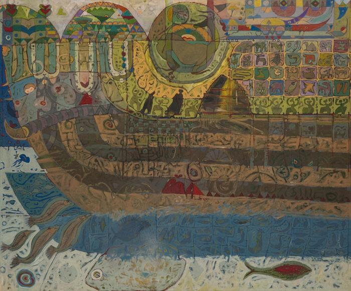 Noah's Ark at the flood time - SOLD