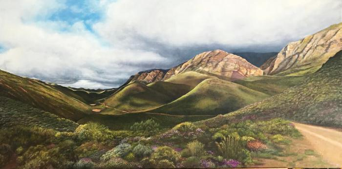 Nico de Kock    Road to Gamkaskloof   Oil on Canvas    sold