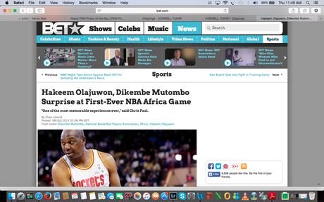 BET.com (US) - NBA Africa Game - Hakeem Olajuwon