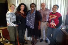 Karen Landsberg, Lisa, Nozizwe, Jeremy & Hanne Koster (director)