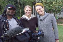 Jabu Msomi (sound recordist), Karen Landsberg (camerawoman), Antoinette Engel (director)