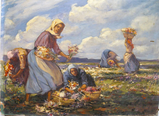 Flower pickers - Spring, Namaqualand - SOLD