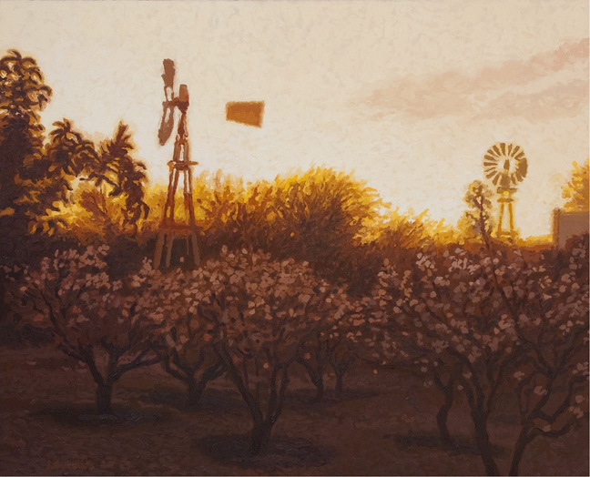 Peach blossom sunset - SOLD