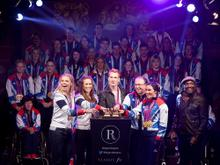 TeamGB and ParalympicsGB turn on the Regent Street Christmas lights 2012