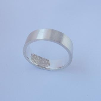 thumbnail for Fingerprint wedding band