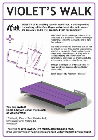 Violet's Walk Poster Design