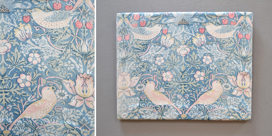William Morris & Co. printed cotton ( mounted onto a stretcher frame )  • late 19th cent
