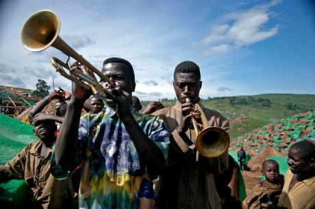 thumbnail for A Church Band rehearse in Tche Refugee Camp in the Ituri region, DR Congo.