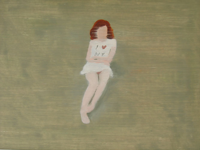 I love NY girl, oil on board, 30 x 42 cm, 2007