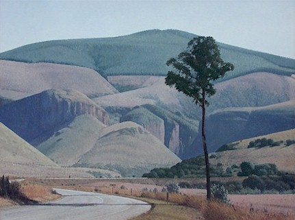 The road into Robbers Pass - SOLD