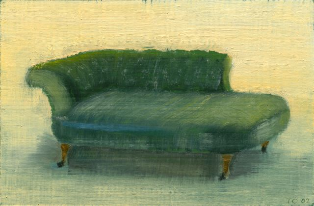 Family Furniture, Oil on board, 15,5 x 23,5 cm, 2002