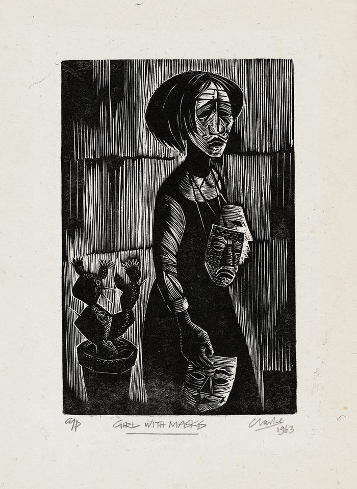 Girl with masks (1963)
