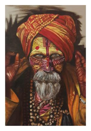 Wilma Mclachlan    Sahdu     oil on canvas    60x40 cm    R2800