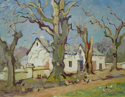 Farmhouse with bare oaks - SOLD