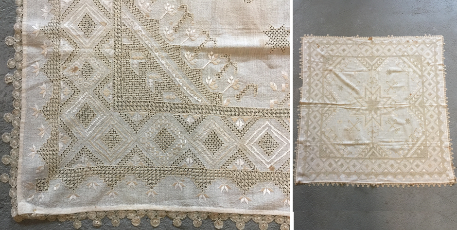Fine Ottoman period Cypriot silk embroidered cover