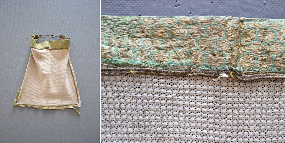 East Turkestan ( Chinese Xinjiang )  purdah face mesh with brocade details • probably 19th cent
