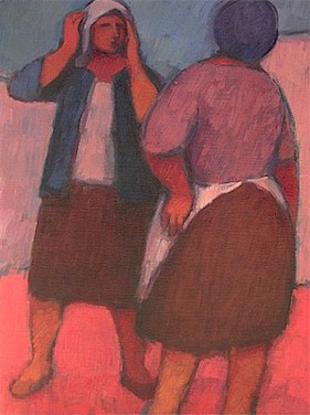 Conversation - Cape Malay women - SOLD