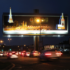 RICHILIEU billboard with giant LED lightboxes