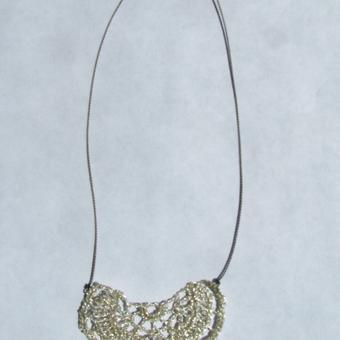 thumbnail for silver bat necklace