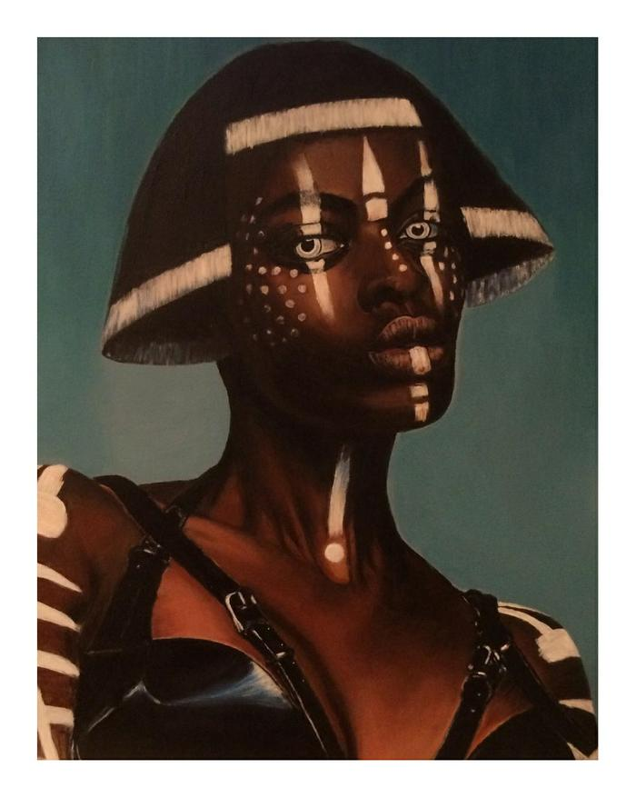 Nicole Schachat    Wild eyes     Acrylic    51x41cm    R 4000