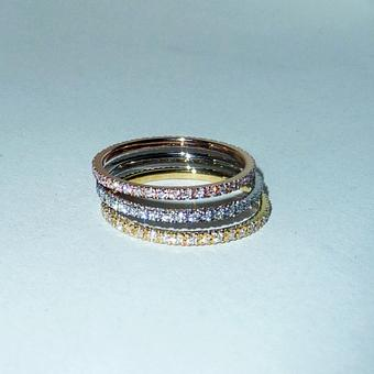 thumbnail for Multicolour stacked eternity bands
