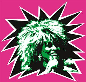 Tina Turner logo for tinplate deodorant can