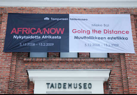 Banner on the museum facade