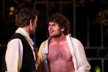 Francis Chouler as Fernando with Armand Aucamp in Cardenio at Maynardville Theatre