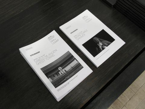Handouts, for each new exhibition