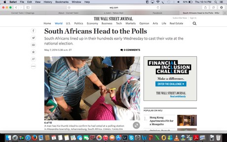 WSJ.com - South Africans head to the polls