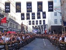 Crowds line Regent Street for the arrival of the cars at Gumball 3000