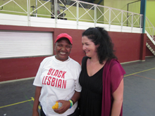 Funeka and Lisa at a Freegender gathering in Khayelitsha